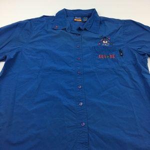 Eeyore Winnie The Pooh Shirt Button Casual 18/20